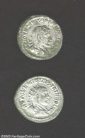 Ancients:Roman, Ancients: Roman Antioch Silver Coins, Gordian III, Tetradrachm,Prieur 310, EF; and Trebonius Gallus, Tetradrachm, Prieur 656, EF.... (Total: 2 coins Item)