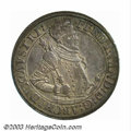 Austria: , Austria: Archduke Ferdinand Taler ND (1564-1595), Armored Bust/Crowned arms, Dav-8097. Toned EF+, very attractive and unusually well-...