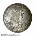 Austria: , Austria: Leopold the Hogmouth Taler 1668, Laureate bust/Crownedarms, Dav-3240, KM-643. Choice Toned UNC, just a fabulous exampleof ...