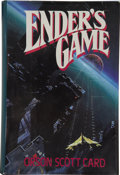 Books:First Editions, Orson Scott Card. Ender's Game. [New York]: Tom DohertyAssociates, 1985. ...