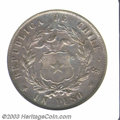 Chile: , Chile: Peso 1854, Condor/Arms, KM-129. AU50 ANACS. A very scarcetype in XF or better. ...