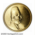 Egypt: , Egypt: Fuad gold 500 Piastres 1922, Bust/Arabic legends, KM-342.AU, prooflike luster, some minor surface marks. ...