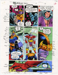 Original Comic Art:Miscellaneous, Mike Dubisch - Cosmic Powers #5, page 17 Color Guide Production Art(Marvel, 1994)....