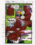 Original Comic Art:Miscellaneous, Mike Dubisch - Cosmic Powers #5, page 24 Color Guide Production Art(Marvel, 1994)....