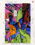 Original Comic Art:Miscellaneous, Mike Dubisch - Cosmic Powers #5, page 26 Color Guide Production Art(Marvel, 1994)....