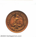 Mexico: , Mexico: 10 Centavos Bronze 1935, KM-430. MS65 Red NGC. Fullbrilliant mint luster. ...