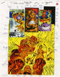 Original Comic Art:Miscellaneous, Mike Dubisch - Cosmic Powers #5, page 29 Color Guide Production Art(Marvel, 1994)....