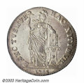Netherlands/Dutch States:West Freisland, Netherlands/Dutch States: West Friesland. 3 Gulden 1764, KM-141.1.Virtually Unc., this coin displays full mint luster and excellenteye appeal. ...