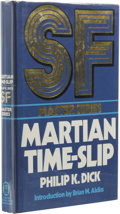 Books:First Editions, Philip K. Dick: Martian Time-Slip. Introduction by BrianAldiss. (London: New English Library, 1976), first hardcover ed...