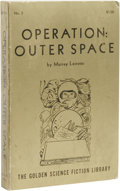 Books:First Editions, Murray Leinster: Operation: Outer Space. (Reading,Pennsylvania: Fantasy Press, 1954), first edition, 208 pages, giltpi...
