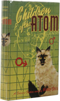 Books:First Editions, Wilmar Shiras: Children of the Atom. (New York: Gnome Press,1953), first edition, 216 pages, red cloth with black or de...