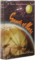 Books:First Editions, Arthur C. Clarke: Sands of Mars. (New York: Gnome Press,1952), first edition, 216 pages, red cloth with black lettering...