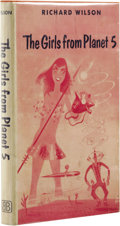 Books:First Editions, Richard Wilson: The Girls From Planet 5. (New York:Ballantine Books, 1955), first edition, 184 pages, bound in orangec...