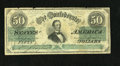 Confederate Notes:1862 Issues, T50 $50 1862. T-50 PF-19 Cr. 362. The right side signature hasfaded away with time on this bright average circulated Very...