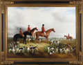 Paintings, A Large Sporting Picture. Unknown artist. English School, 1882. Oil on canvas. Signed and dated: C. Glenn 1882. 36 inc...