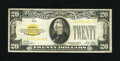 Small Size:Gold Certificates, Fr. 2402 $20 1928 Gold Certificate. Fine.. Nice edges for the grade, but pinholes are noticed....