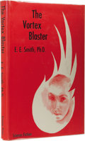 Books:First Editions, Edward E. Smith: The Vortex Blaster. (New York: Gnome Press,1960), first edition, 191 pages, blue cloth with yellow let...
