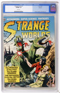 Golden Age (1938-1955):Science Fiction, Strange Worlds #3 Spokane pedigree (Avon, 1951) CGC VF/NM 9.0 Whitepages. What a lineup of artists! The cover's by Everett ...