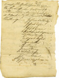 Autographs:Military Figures, Valley Forge - 1777 Document Archive. Ten pages- blankets for Valley Forge. An amazing archive listing approximately 27 name... (Total: 7 )