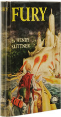 Books:First Editions, Henry Kuttner: Fury. (New York: Grosset & Dunlap, 1950),first edition, 186 pages, light green cloth with dark green let...