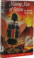 Books:First Editions, Philip Latham: Missing Men of Saturn. (Philadelphia: TheJohn C. Winston Company, 1953), first edition, 215 pages, red c...