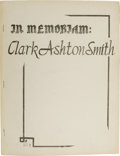 Books:First Editions, Jack L. Chalker, editor: Numbered First Edition of In Memoriam:Clark Ashton Smith. (Baltimore: The Mirage Press, Ltd., ...