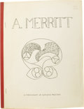 Books:Signed Editions, Walter James Wentz: Signed and Numbered Presentation Copy of A. Merritt: A Bibliography of Fantastic Writings Presente...