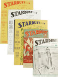 Books:Periodicals, Complete Collection of Stardust Fanzine. (Chicago: Stardust Publishers, 1940). March, May and August issues measure ... (Total: 5 )