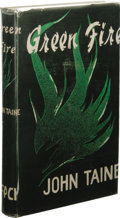 Books:Fiction, John Taine: Green Fire. (Los Angeles: Fantasy PublishingCo., Inc., 1952), 313 pages, green cloth with black lettering o...