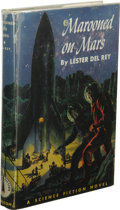 Books:First Editions, Lester del Rey: Marooned on Mars. (Philadelphia: The John C.Winston Company, 1952), first edition, 210 pages, light blu...