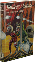 Books:First Editions, Erik Van Lhin: Battle on Mercury. (Philadelphia: The John C.Winston Company, 1953), first edition, 207 pages, red cloth...
