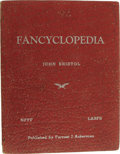 Books:Non-fiction, John Bristol: Limited Numbered Edition of Fancyclopedia. (Los Angeles: Forrest J. Ackerman, 1944), first edition, 97 pag...