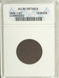 1806 1/2 C Small 6, No Stems--Corroded--ANACS. AU55 Details. NGC Census: (39/236). PCGS Population (38/93). Mintage: 356...