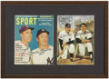 Autographs:Others, Joe DiMaggio & Mickey Mantle Signed Magazine Covers Displayfrom the Sarabella Collection. You can never have too much of a...
