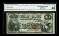 National Bank Notes:Kentucky, Lexington, KY - $10 1882 Brown Back Fr. 484 The Fayette NB Ch. #1720. Blazing white paper and bold signatures complemen...