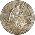 Seated Dollars, 1870-CC $1 MS60 NGC....