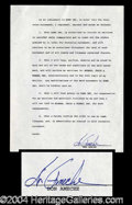 Autographs, Don Ameche Signed Document