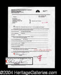 Autographs, Kevin Bacon Signed Document