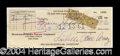 Autographs, Lucille Ball Signed Bank Check
