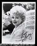 Autographs, Lucille Ball Signed 8 x 10 Photograph