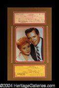Autographs, Lucille Ball & Desi Arnaz Signed Matted Check Display
