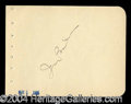 Autographs, Irving Berling Nice Ink Signature