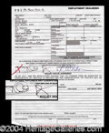 Autographs, Halle Berry Desirable Signed Document