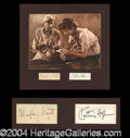 Autographs, Bogart & Hepburn African Queen Signed Display