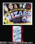 Autographs, Ray Bolger Wizard of Oz Signed Poster