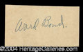 Autographs, Ward Bond Rare Ink Signature