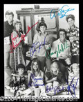 Autographs, The Brady Bunch Cast Signed Photo