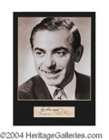 Autographs, Eddie Cantor Signed Matted Display