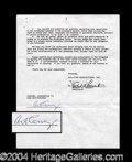 Autographs, Art Carney Signed Document