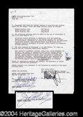 Autographs, Joan Collins Signed Dynasty Document